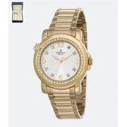 Relógio Champion Passion Dourado Feminino + semi jóia CH24535W