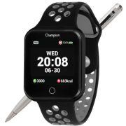 Relógio Champion Smartwatch Bluetooth 4.0 CH50006D Caixa Preta Pulseira Preto