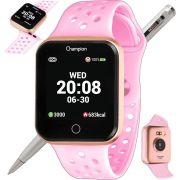 Relógio Champion Smartwatch Bluetooth 4.0 CH50006R Rosé/Rosa