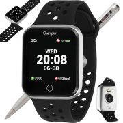 Relógio Champion Smartwatch Bluetooth 4.0 CH50006T Prata/Preto