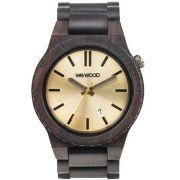 Relógio de Madeira Wewood Masculino Arrow Black/gold WWAR03
