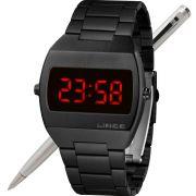 Relógio Lince LED Digital Unissex MDN4620L VXPX Preto - LED Vermelho