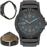 Relógio Mormaii Masculino Steel Basic MO2036IR/2A Couro Preto