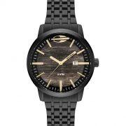 Relógio Mormaii Masculino Wood  Preto MO2115BF/4M