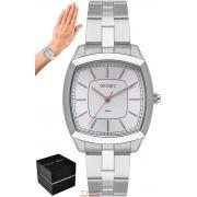 Relógio Orient Feminino LBSS0084 S1SX Quadrado Prateado