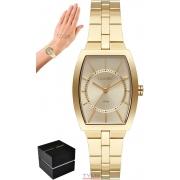 Relógio Orient Feminino LGSS0059 C1KX Quadrado Dourado