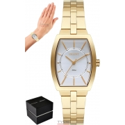 Relógio Orient Feminino LGSS0059 S1KX Quadrado Dourado