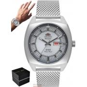 Relógio Orient Masculino Automático 3 Stars F49SS011 S1SX Prateado Aço