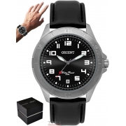 Relógio Orient Masculino MBSC1032 G2PX Analógo Couro Preto