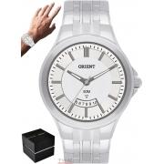 Relógio Orient Masculino MBSS1118A S1SX Analógico Prateado