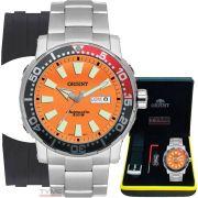 Relógio Orient Masculino Poseidon Diver Automático 469SS039 O1SX Laranja