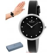 Relógio Oslo Feminino Slim Safira OFBSCS9T0002 P1PX Preto