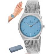 Relógio Oslo Feminino Slim Safira Prateado OFBSSS9T0004 A1SX