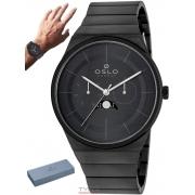 Relógio Oslo Masculino Slim Safira Multifunção Lunar OMYSSM6P0001 P1GX
