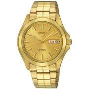 Relógio Seiko 5 Automático Masculino Dourado SNKK98B1 C1KX