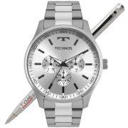Relógio Technos Masculino Classic Steel 6P29AJO/1K Multifunção