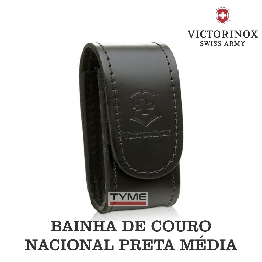 Bainha Victorinox Couro Preta Média Nacional 4.0521.3A