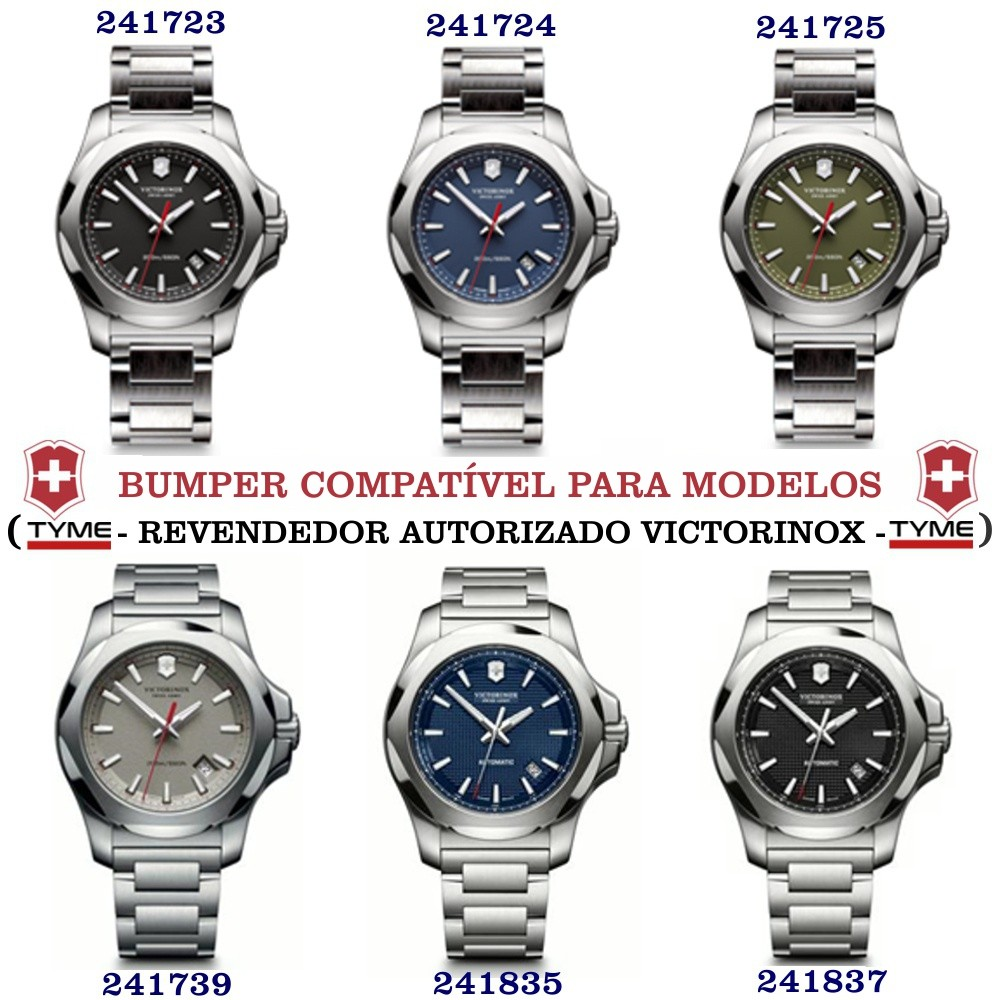 Bumper Protetor P/ Relógio De Borracha Victorinox I.N.O.X Cinza - V.60020