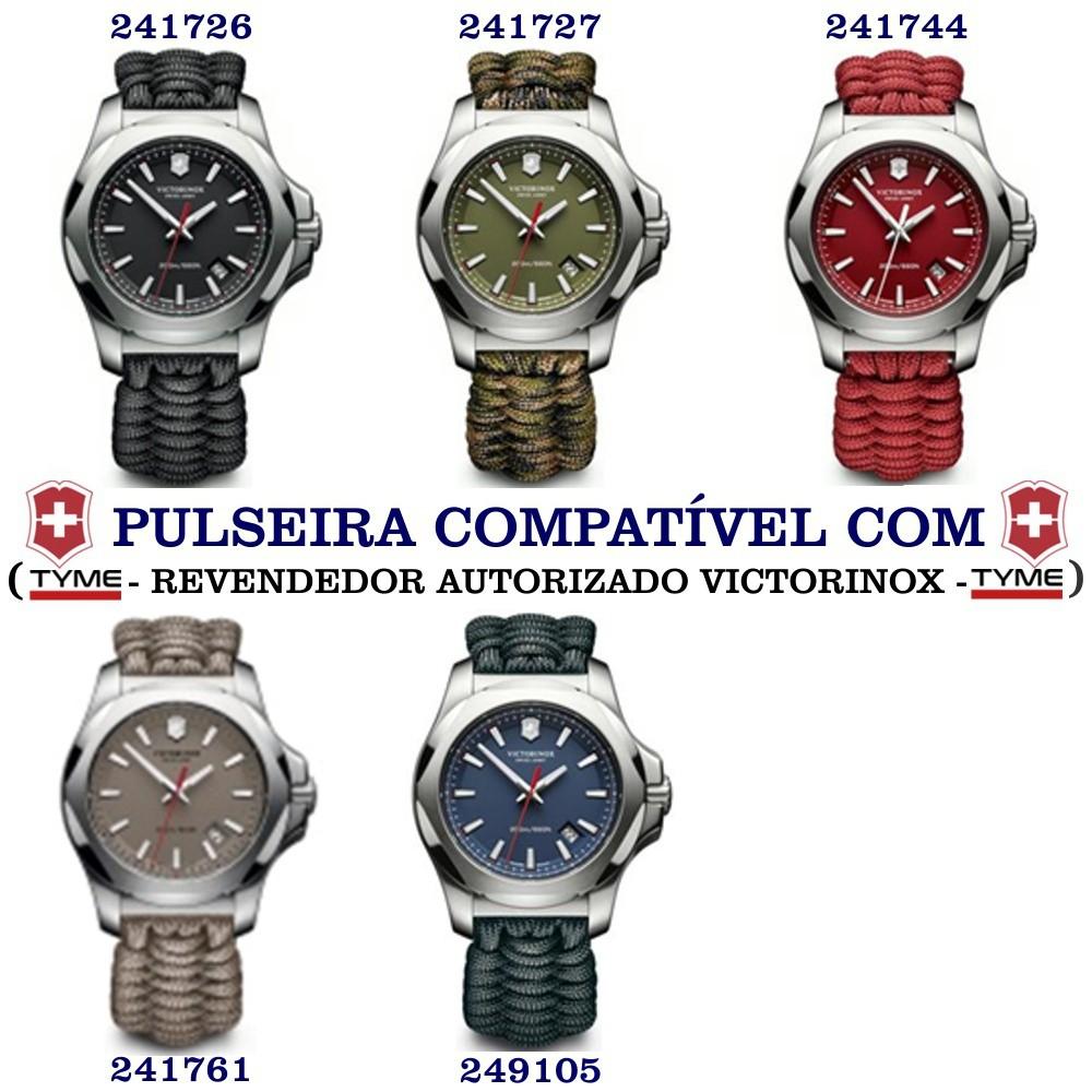 Bumper Protetor P/ Relógio De Borracha Victorinox I.N.O.X Preto - V.60018