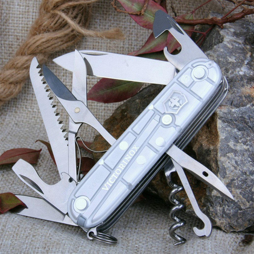 Canivete Victorinox Huntsman Prata Translúcido 91mm 1.3713.T7