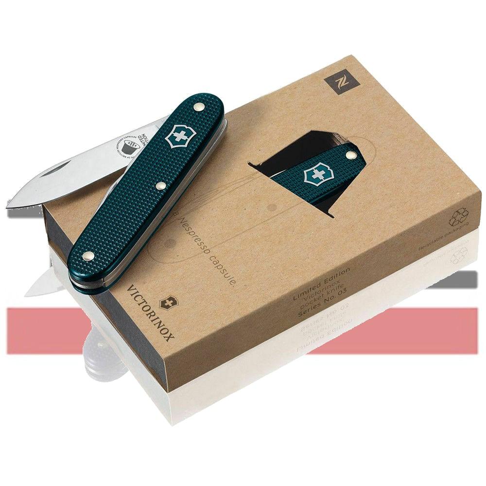 Canivete Victorinox Nespresso Dharkan Alox Pioneer 93mm Edição Limitada
