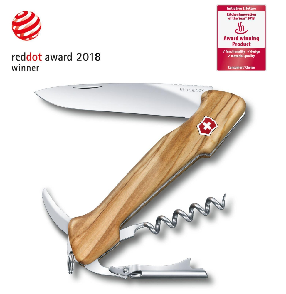 Canivete Victorinox Wine Master Madeira Oliveira 130mm 0.9701.63