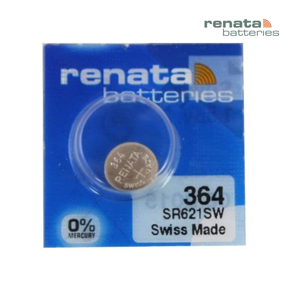 Pilha Bateria 364 SR621SW Renata Swiss Made 1,55V Botão