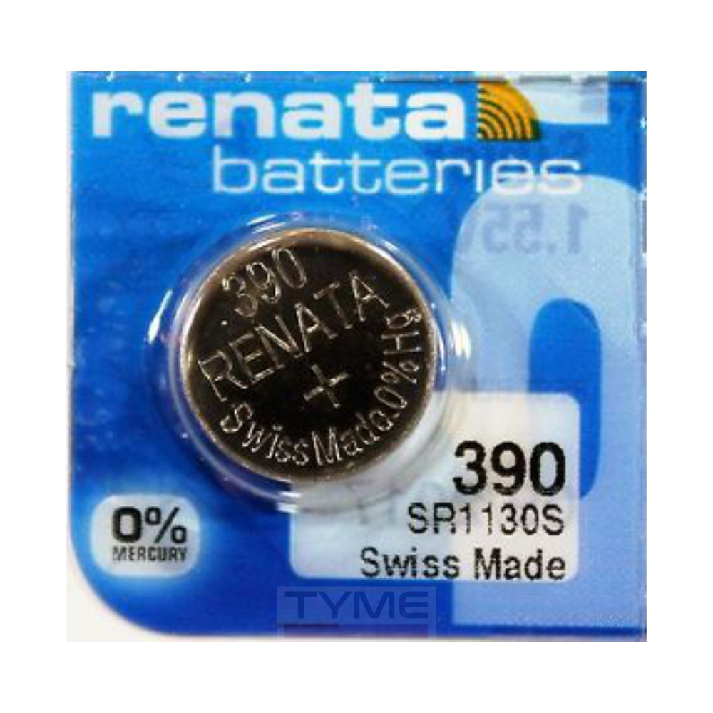 Pilha Bateria 390 SR1130S Renata Swiss Made 1,55V Botão