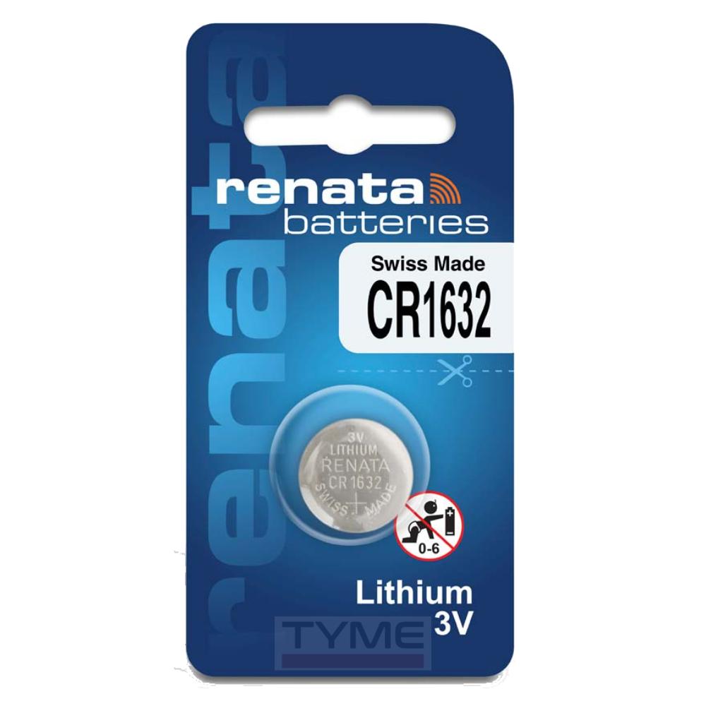 Pilha Bateria CR1632 Lithium Renata Swiss Made 3V Botão