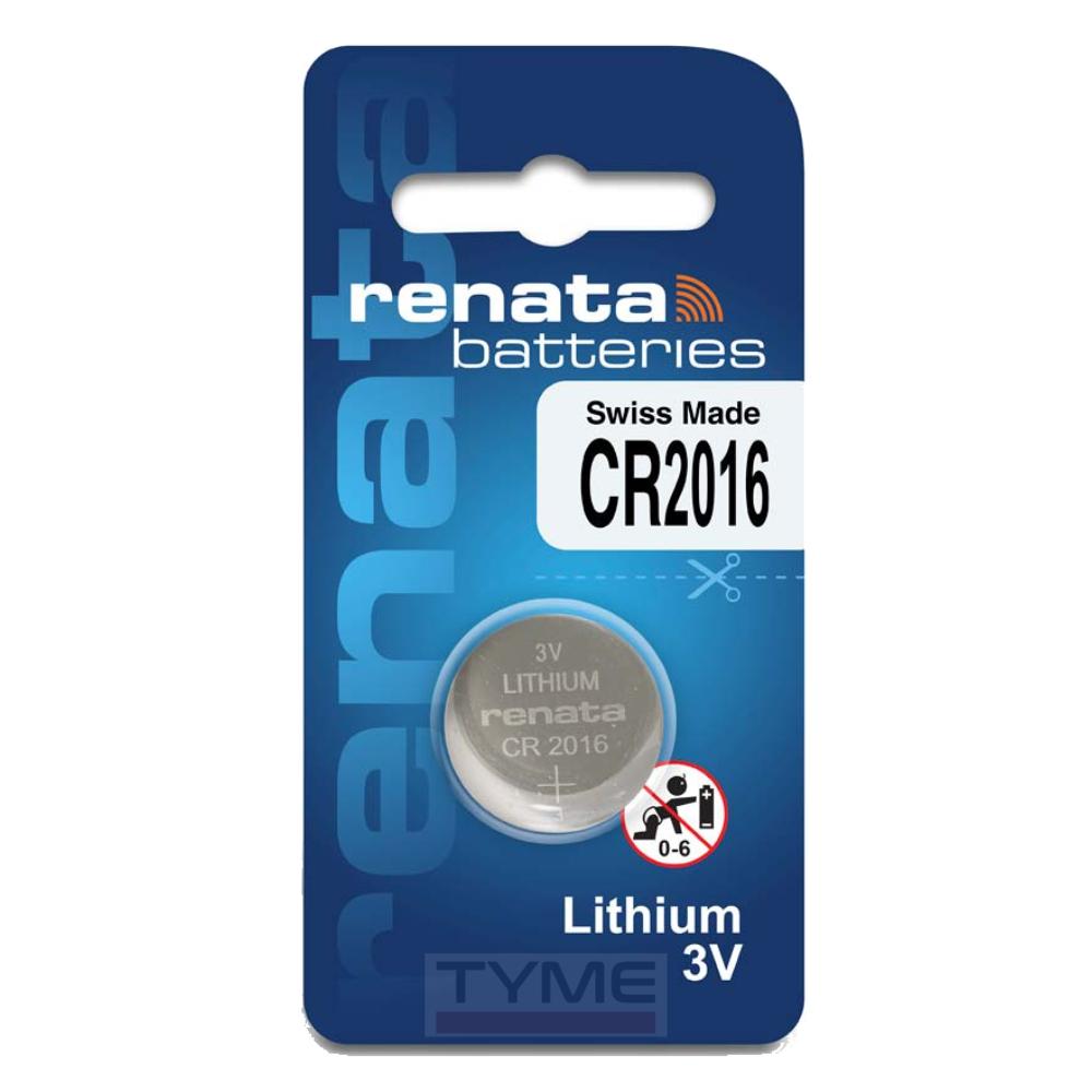 Pilha Bateria CR2016 Lithium Renata Swiss Made 3V Botão