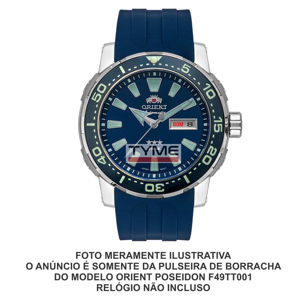 Pulseira de Borracha Azul para Relógio Orient Poseidon F49TT001