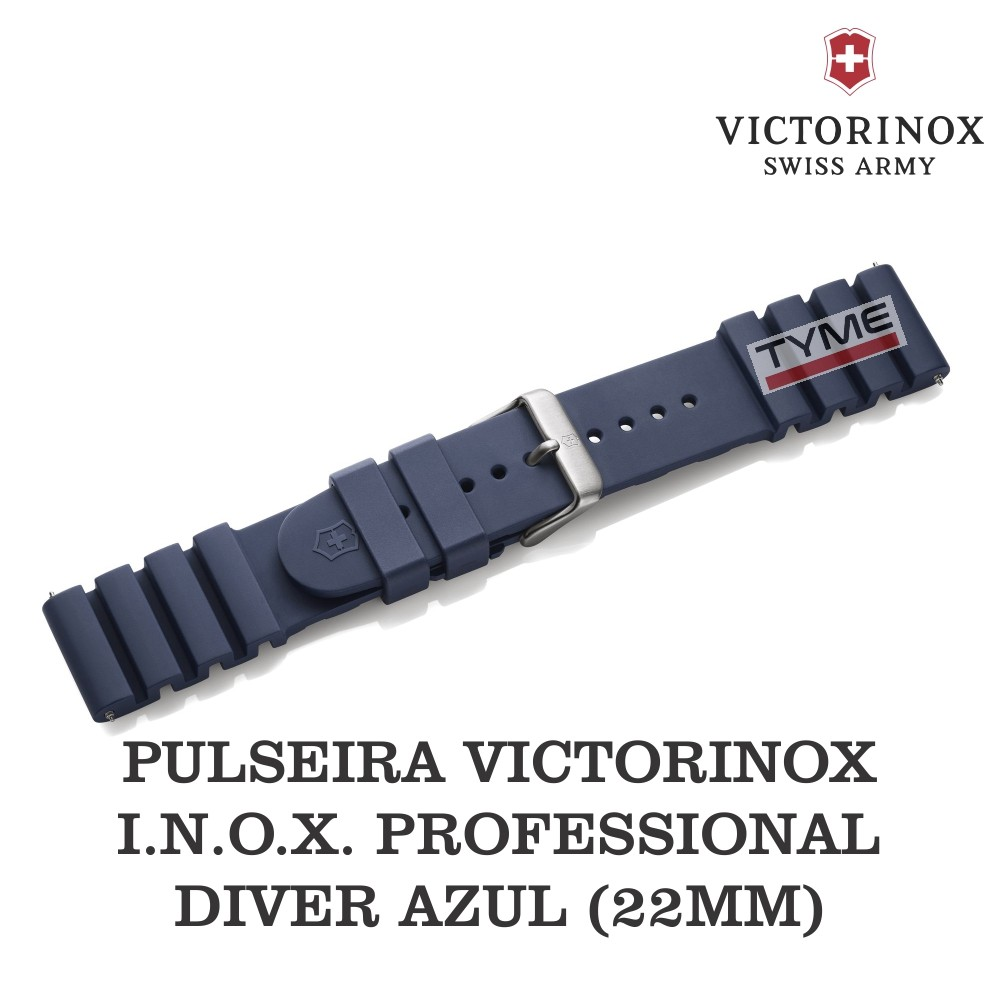 Pulseira de Borracha Azul Victorinox I.N.O.X. Professional Diver 22mm 005328