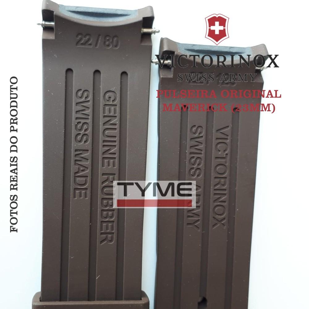 Pulseira de Borracha Marrom Victorinox Maverick 22mm 004804