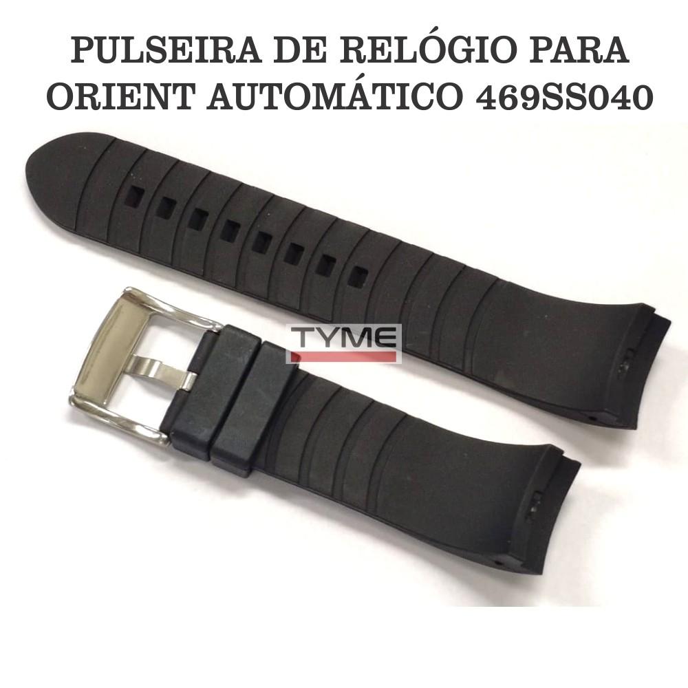 Pulseira de Borracha Preto para Relógio Orient Automático 469SS040