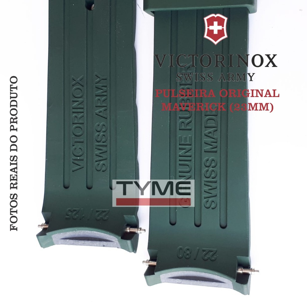 Pulseira de Borracha Verde Victorinox Maverick 22mm 004794
