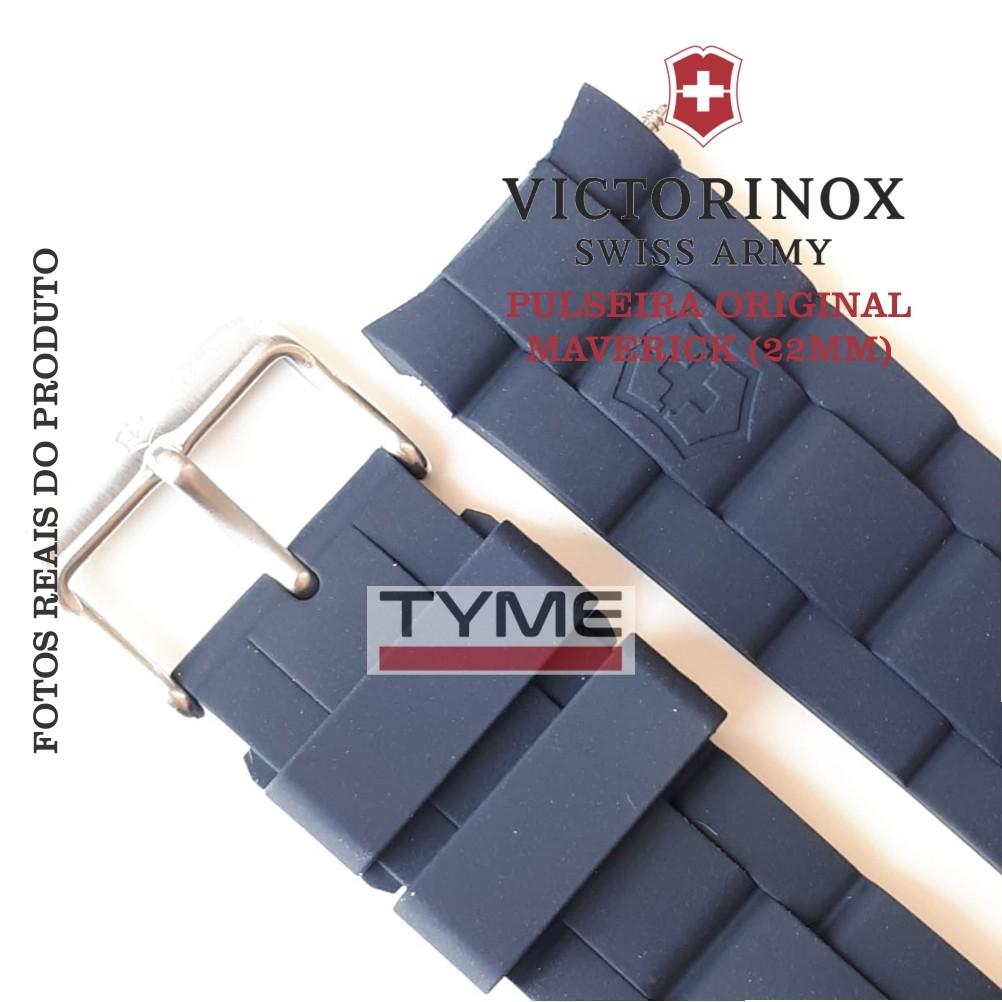 Pulseira de Borracha Azul Victorinox Maverick 22mm 004783
