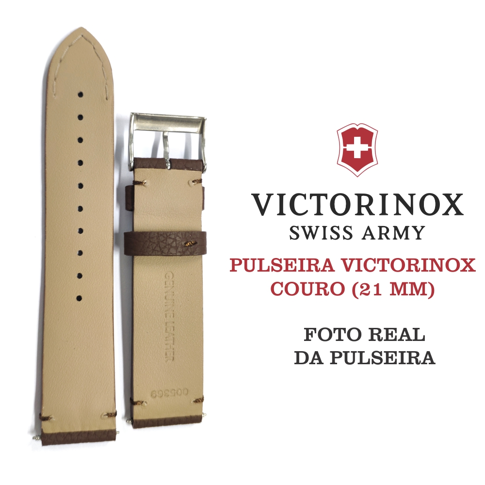 Pulseira de Couro Marrom Victorinox 21mm 005369