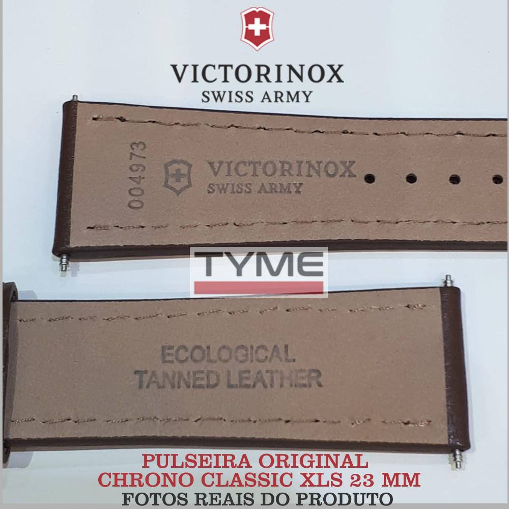Pulseira de Couro Marrom Victorinox Chrono Classic XLS 23mm 004973