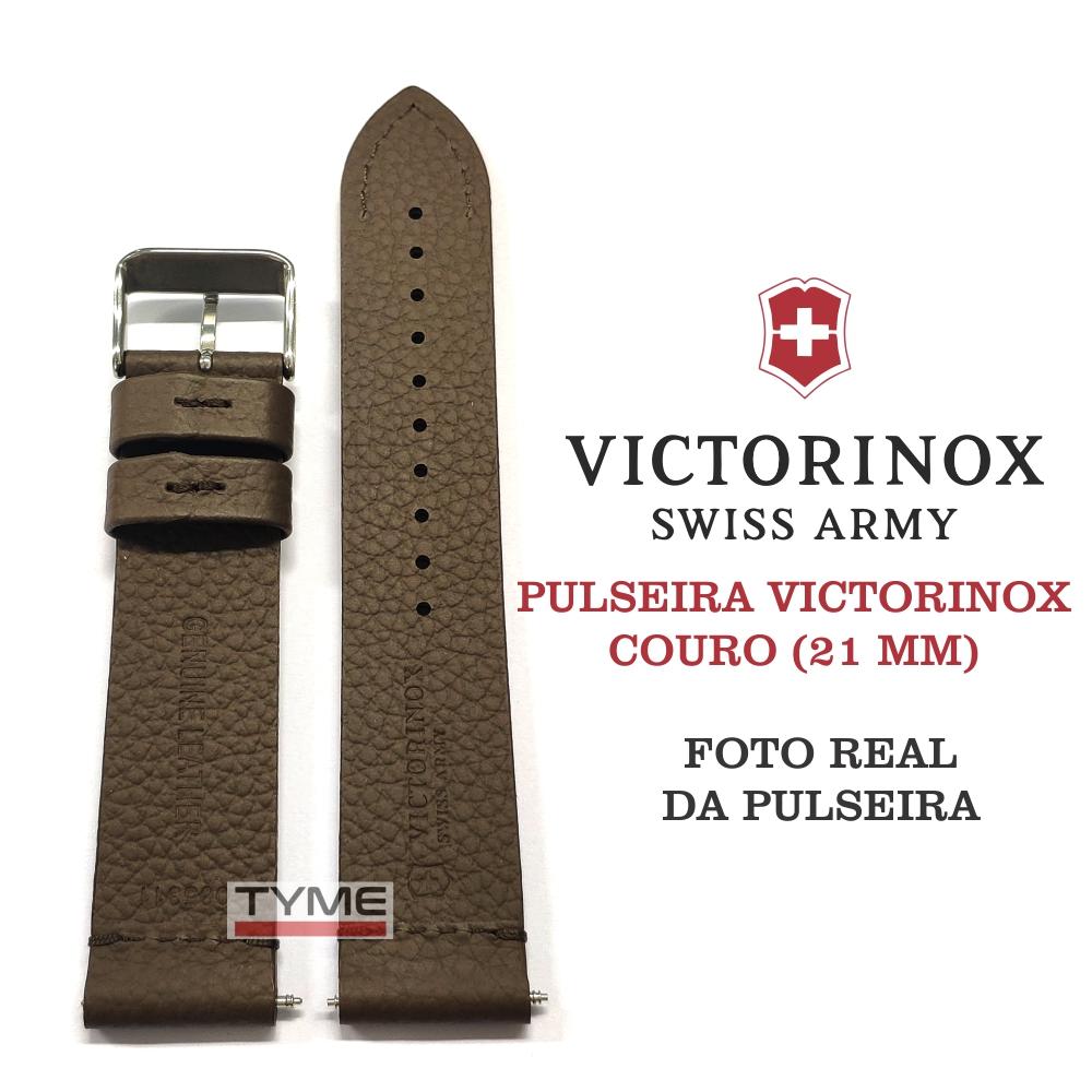 Pulseira de Couro Marrom Victorinox 21mm 005311