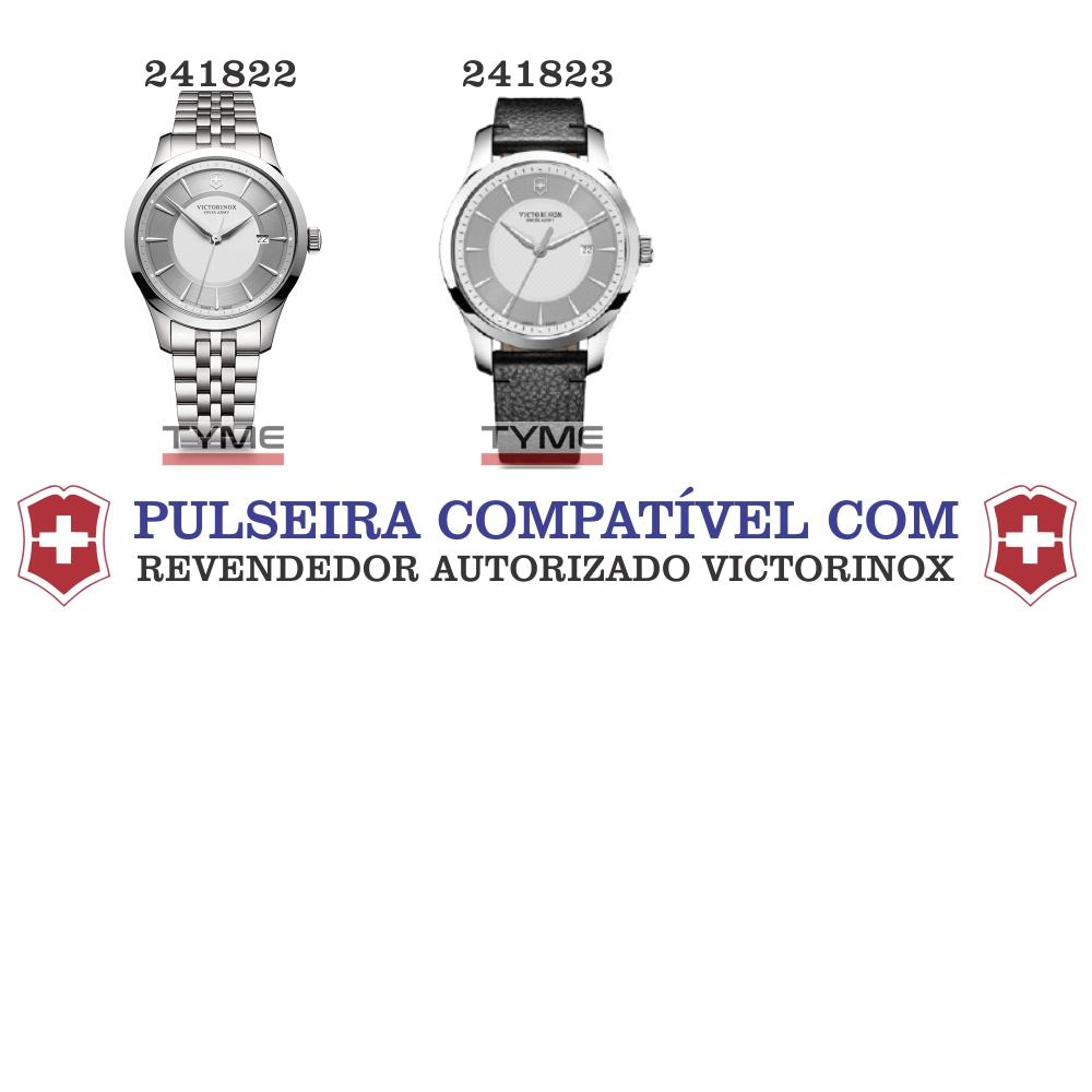 Pulseira de Couro Preto Victorinox Alliance 20mm 005685