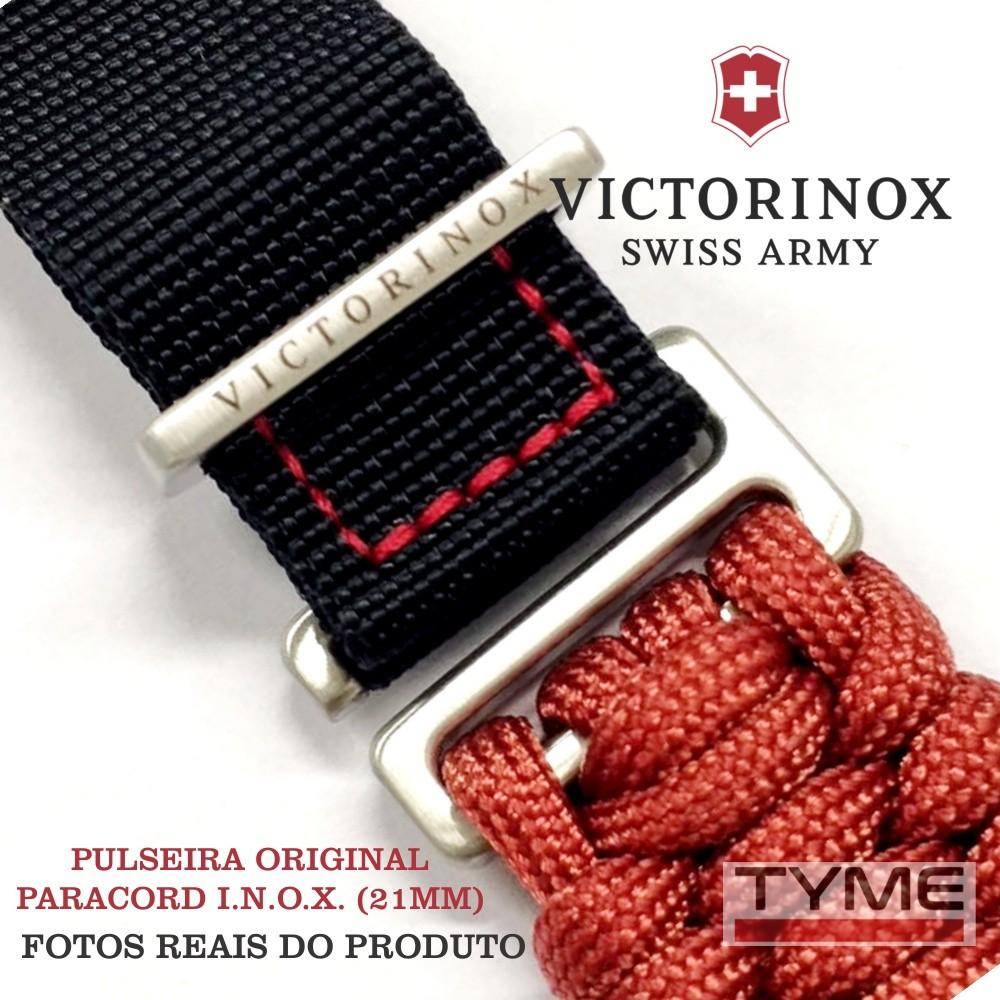 Pulseira Paracord Vermelho Victorinox I.N.O.X. 21mm 005336