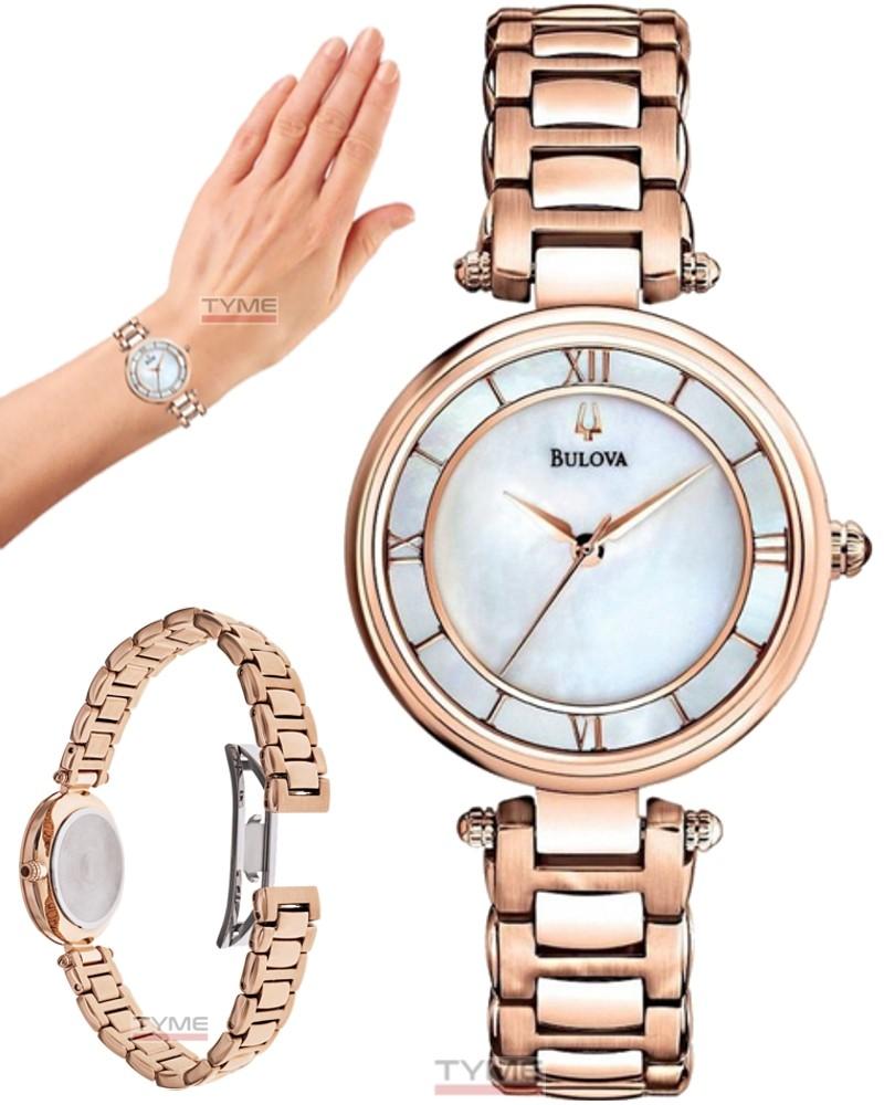Relógio Bulova Feminino Classic Rosê WB27725Z 97L124
