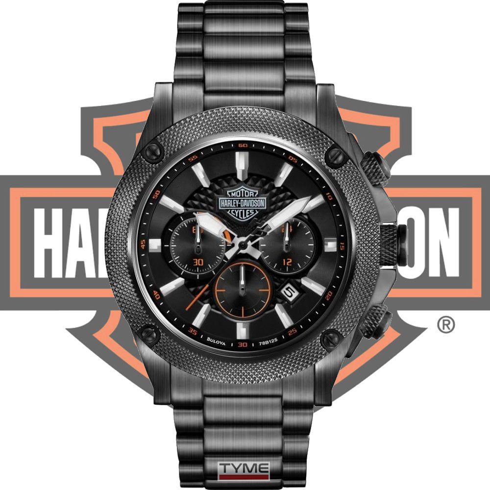 Relógio Bulova Harley Davidson Masculino Cronógrafo WH30386P 78B127