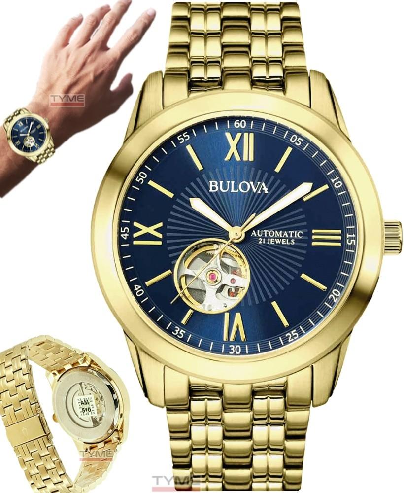 Relógio Bulova Masculino Automático 21 Jewels WB32004Z 97A131