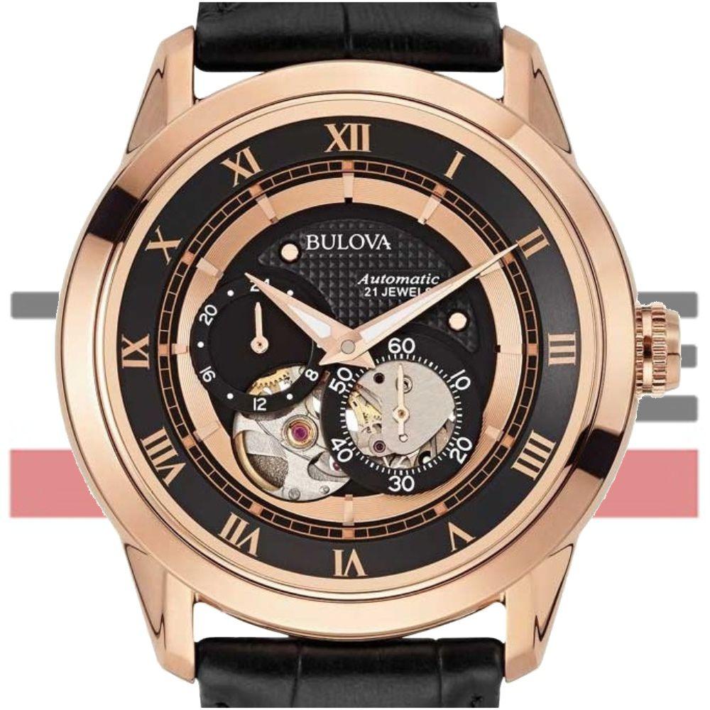 Relógio Bulova Masculino Automático Wb21874p 97a116 Rosé