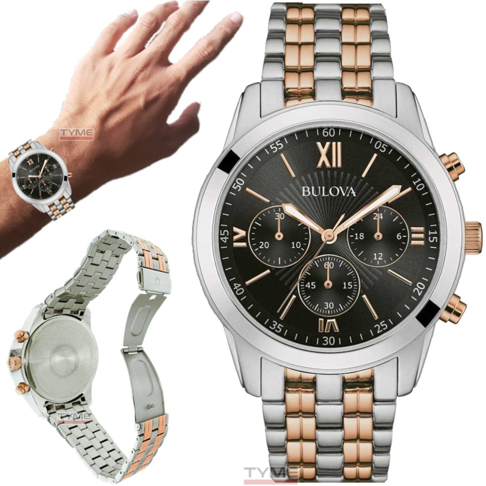 Relógio Bulova Masculino Dress Cronógrafo WB22382P / 98A153