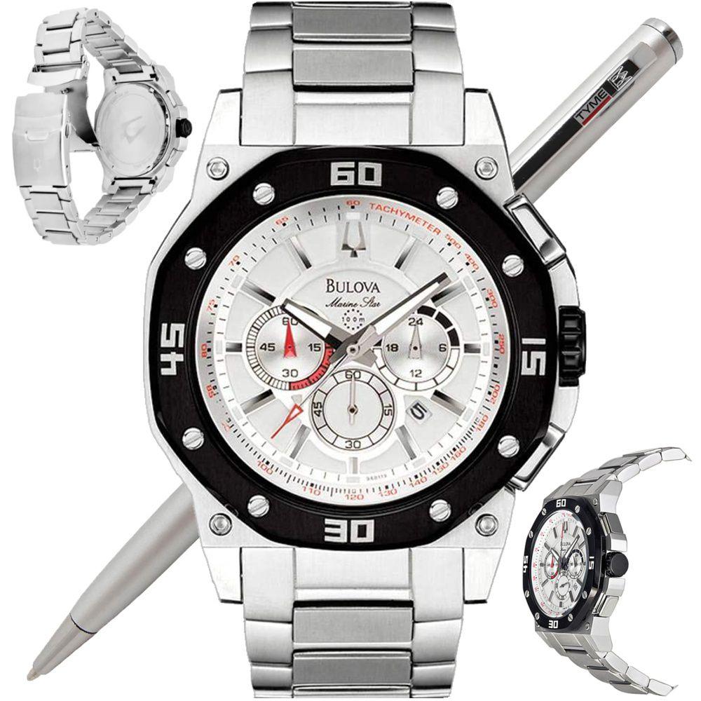 Relógio Bulova Masculino Marine Star Cronógrafo WB30962T 98B119