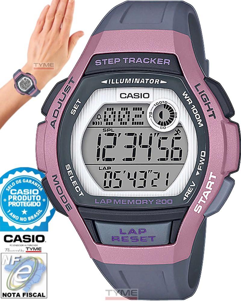 Relógio Casio Feminino Step Tracker Lap Memory 200 LWS-2000H-4AVDF
