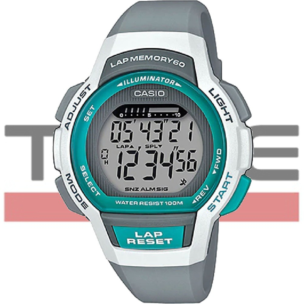 Relógio Casio Feminino Lap Memory 60 Standard LWS-1000H-8AVDF