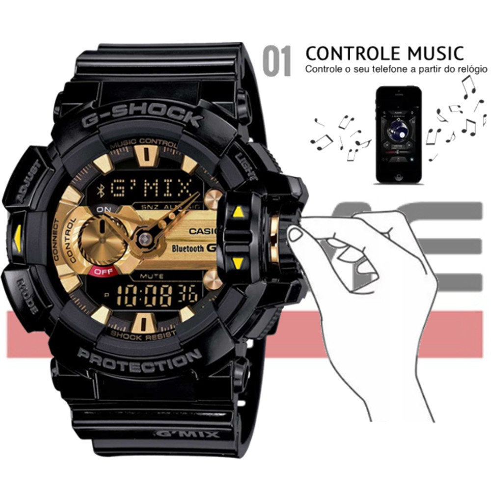 Relógio Casio G-Shock Masculino G'MIX GBA-400-1A9DR